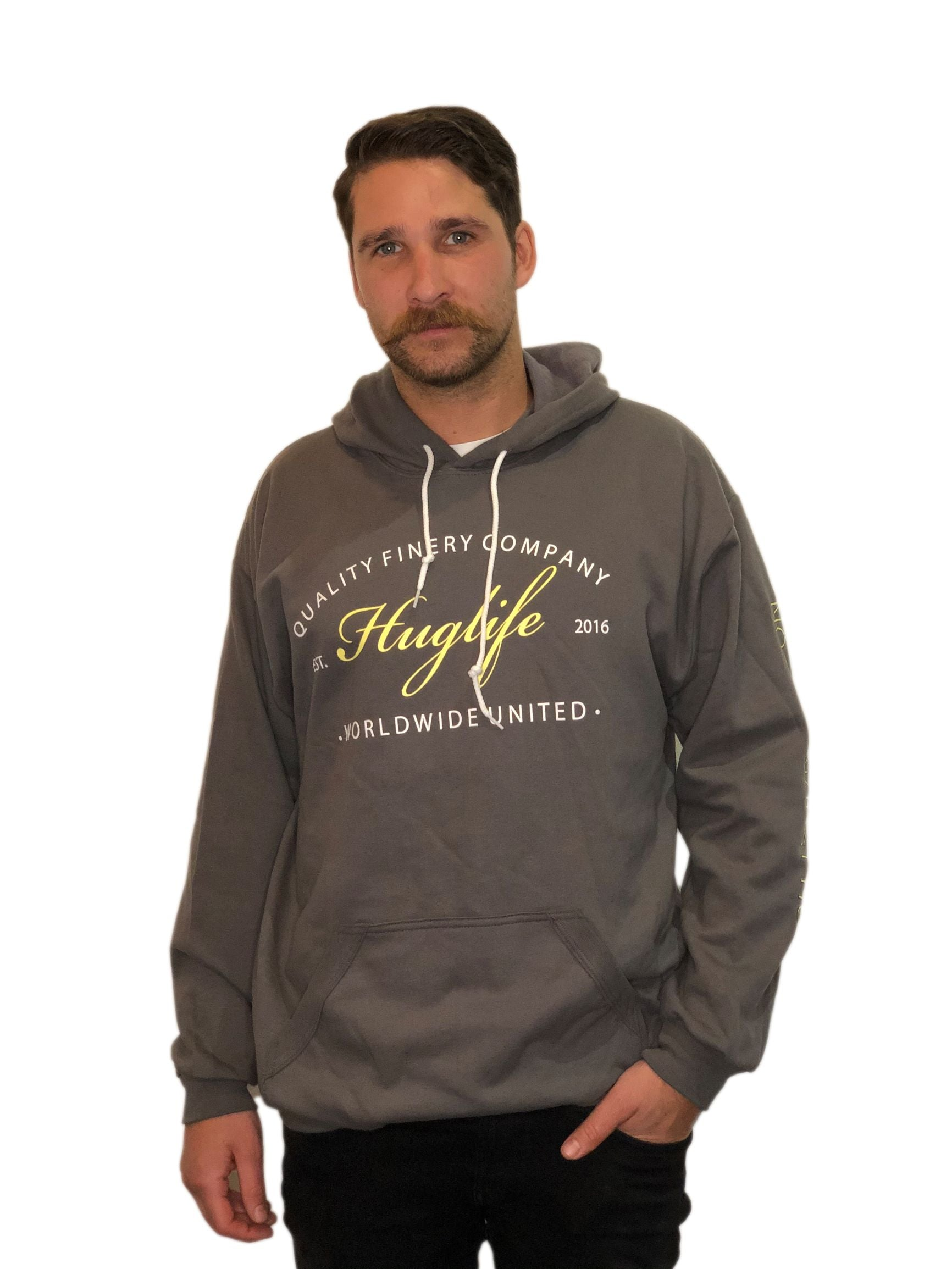 The Unisex Stone Grey Hoodie / Worldwide United Huglife