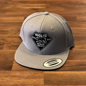 Silver Snapback /Black Bear Patch