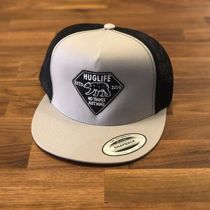 Silver and Black Trucker / Black and Grey Diamond Bear Patch