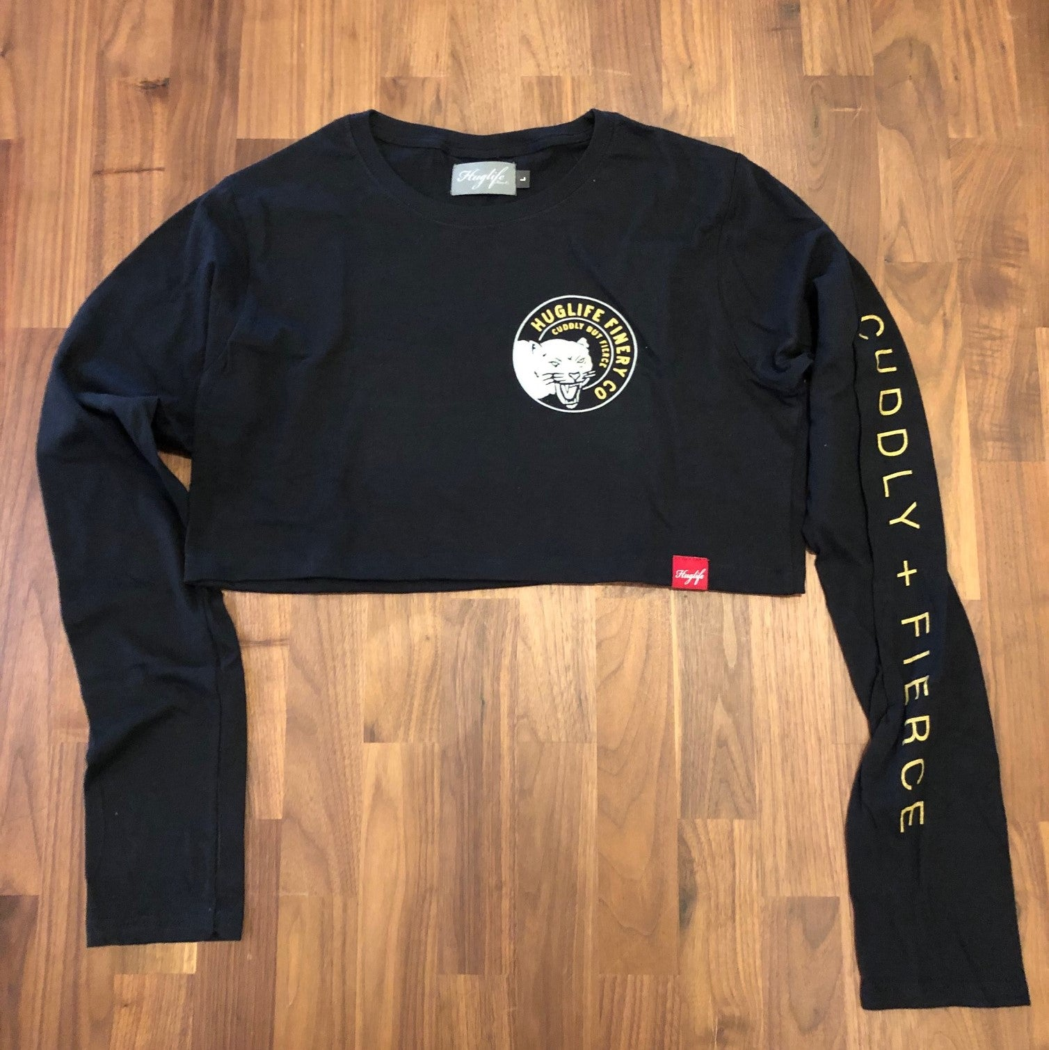 The Cardi / Crop Long Sleeve T / Cuddly but Fierce Panther