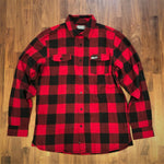 The Biggie / Men's Red and Black Flannel