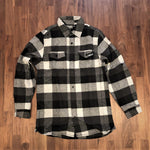The Pac / Unisex Grey Plaid Flannel