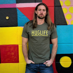 The Drew / Military Green 100% Cotton T/ Arm Yourself With Knowledge