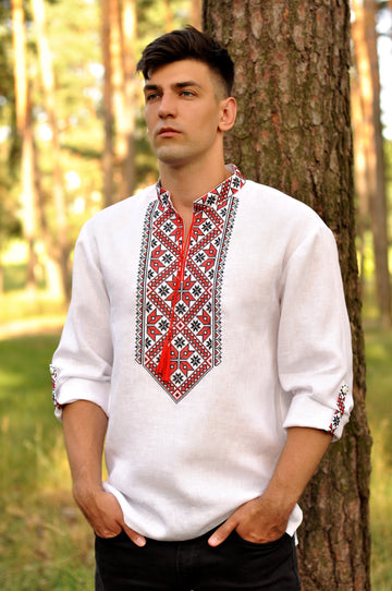 Embroidered men`s shirt