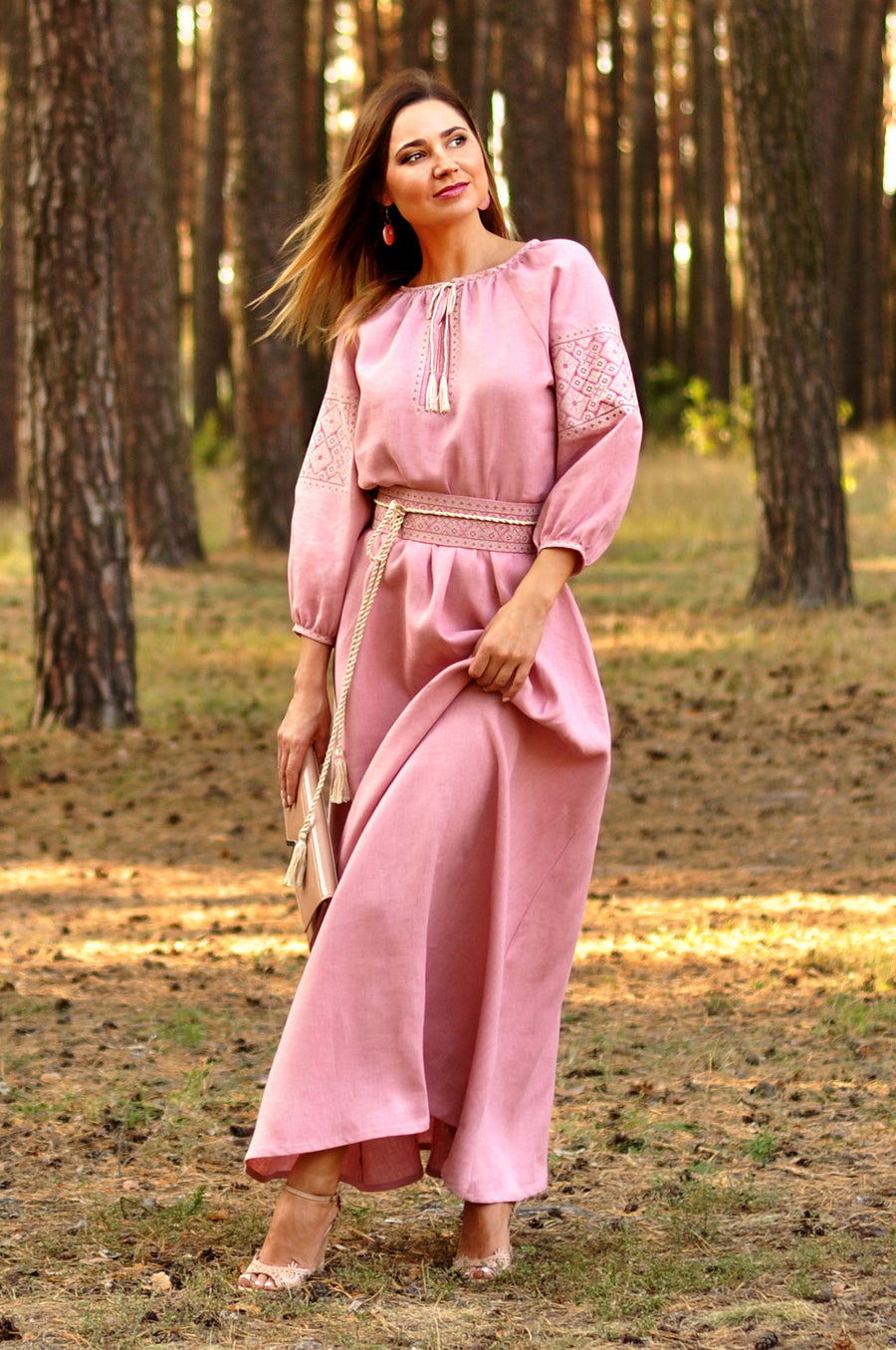 Fabulously beautiful powder pink dress