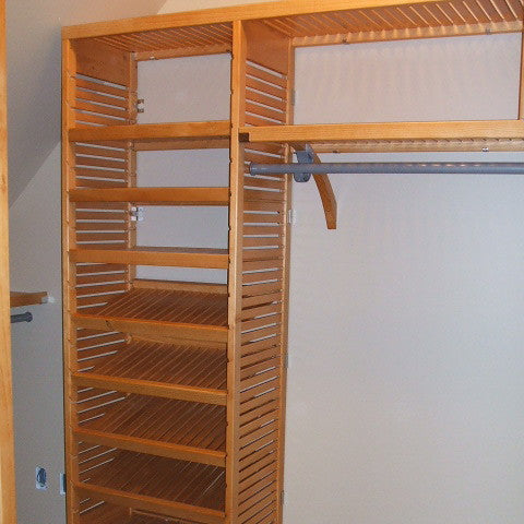 John Louis Home solid wood closet organizer for bedroom closet.