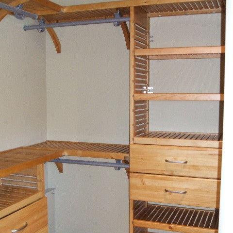 John Louis Home solid wood closet organizer with shortened tower.