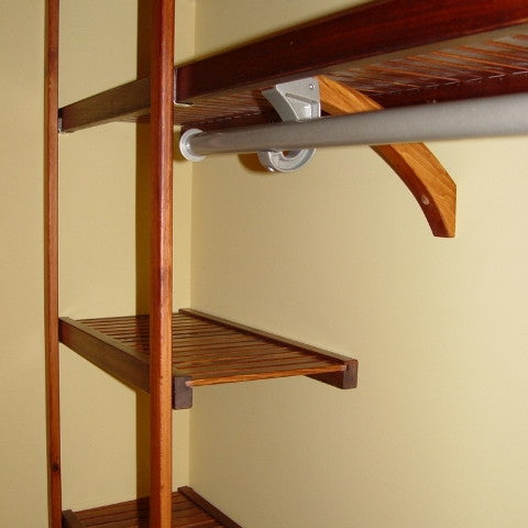 John Louis Home solid wood shelving closet design with Standard Closet-In-A-Box.