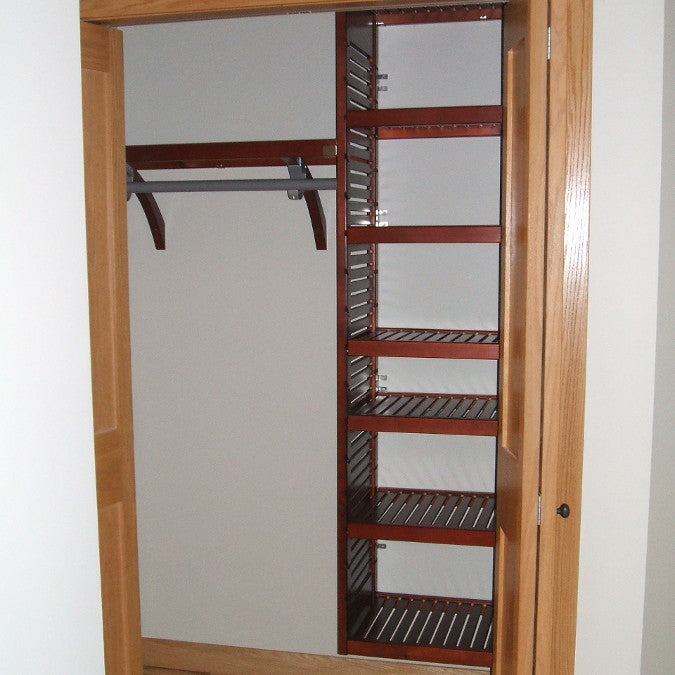 John Louis Home solid wood closet system with a tower for entry closet.