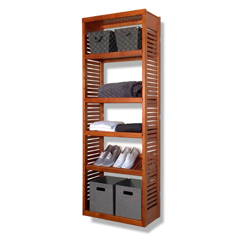 Woodcrest 12in. Deep Tower with Shelves
