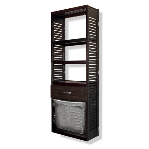 Woodcrest 12in. Deep Tower with Drawer and Laundry