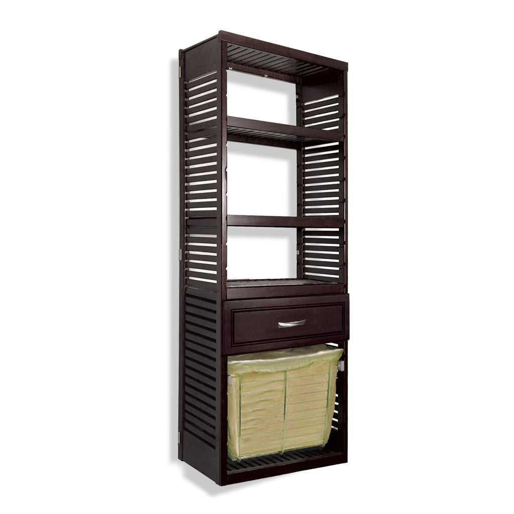 Woodcrest 16in. Deep Tower with Drawer and Laundry