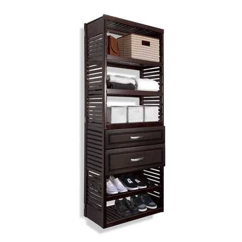 Woodcrest 16in. Deep Tower with Shelves and 2 Drawers