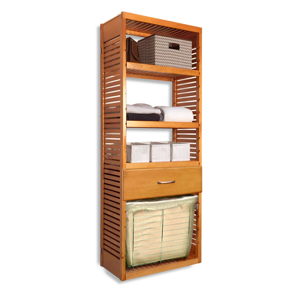 16in. Deep Tower with Drawer and Laundry