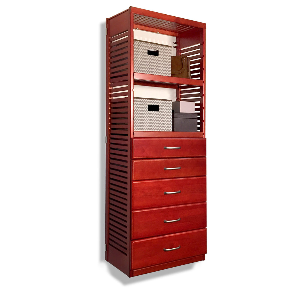 16in. Deep Tower with 5 Drawers