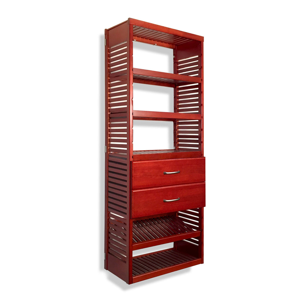 16in. Deep Tower with Shelves and 2 Drawers