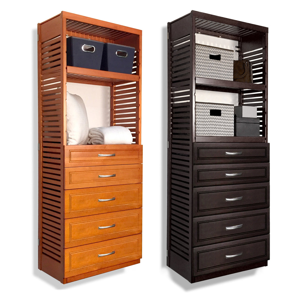 Woodcrest 16in. Deep Tower with 5 Drawers