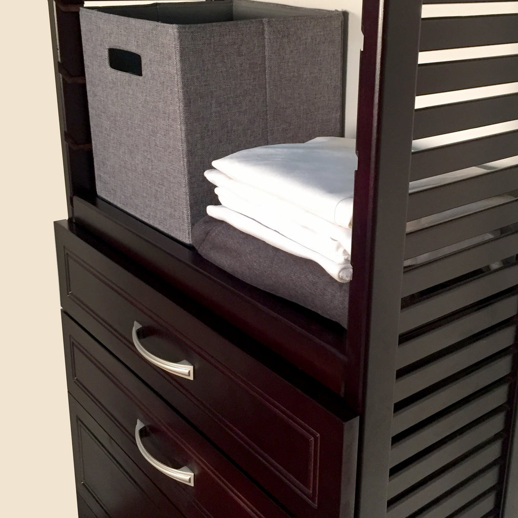 Woodcrest 12in. Deep Tower with 5 Drawers