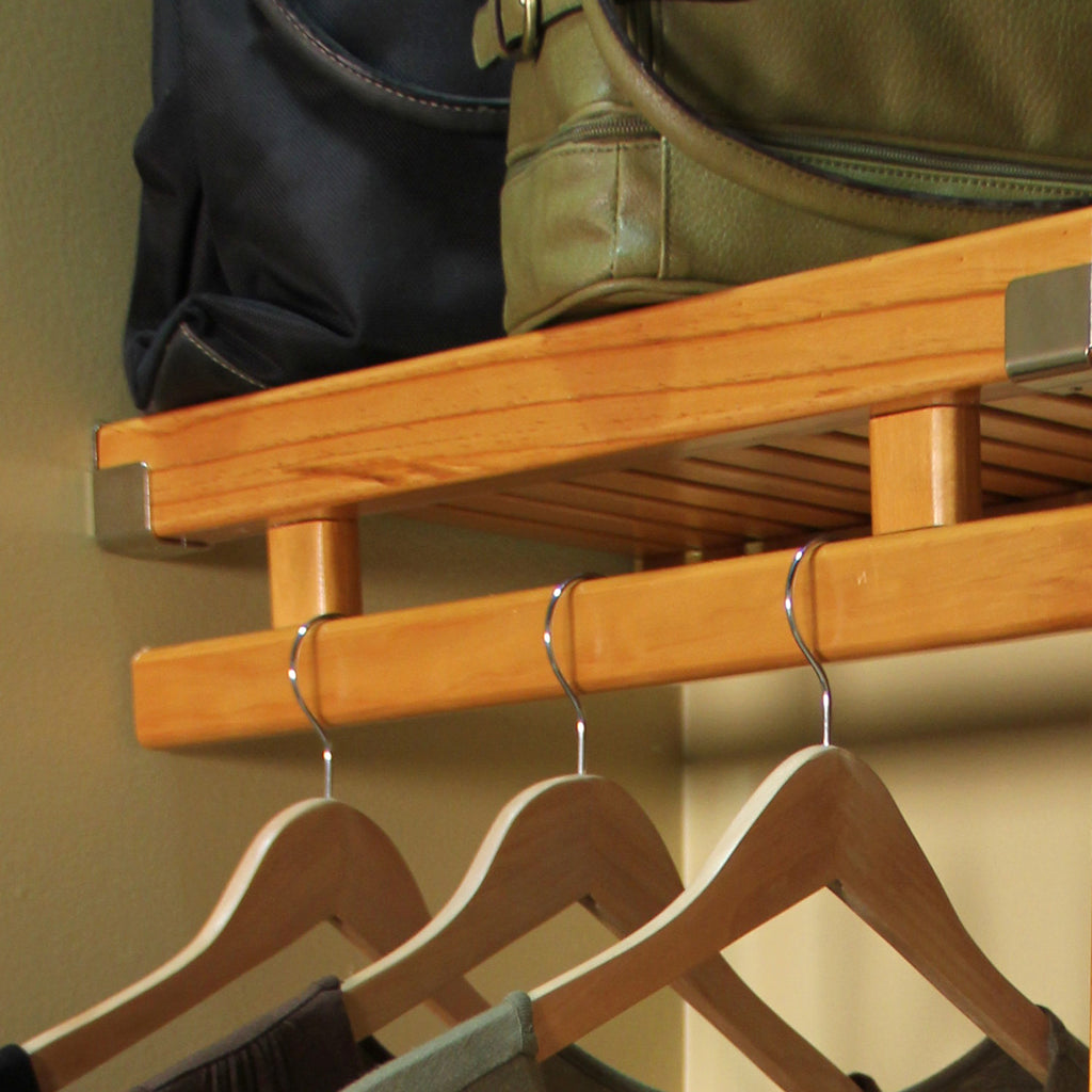 6 ft Wood Garment Bar