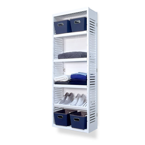 Woodcrest White 12in. Tower with Shelves