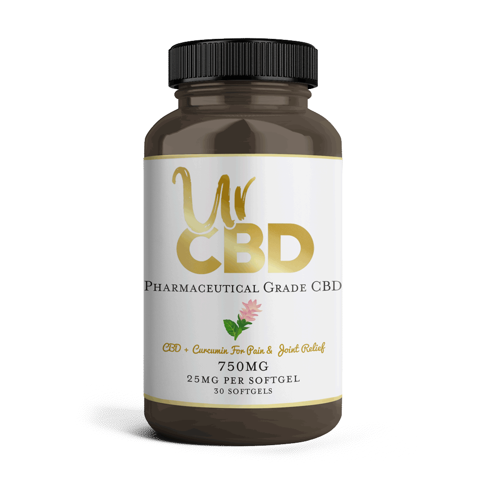CBD Softgels with curcumin from UrCBD