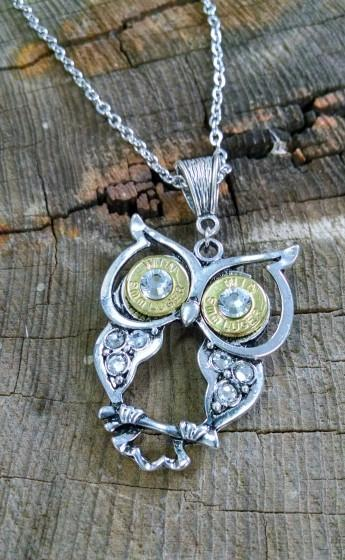 9MM Silver Owl Necklace