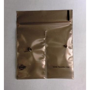 "Anti-Tarnish Corrosion Intercept® 4""x4"" TRANSLUCENT DIVIDED Zip-Lock Bag"