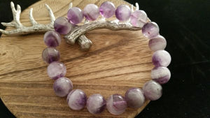 Natural Polished Dream Amethyst Crystal Bracelet