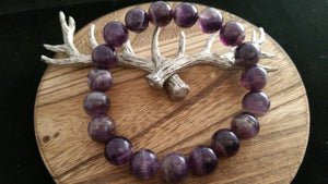 Natural Dark Dream Amethyst Crystal Bracelet
