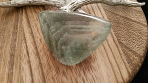 A+ Natural Polished Clear Green Pyramid Phantom Quartz Crystal - 20 Grams