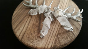 Lot Natural Quartz Crystal Chrysalis Wire Wrap Pendants
