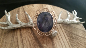 Estate .925 Sterling Silver Natural Large Faceted Sapphire Gemstone Ring