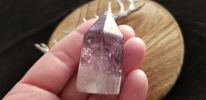 Natural Amethyst Polished Free Standing Obelisk Crystal Point - 44.4 Grams