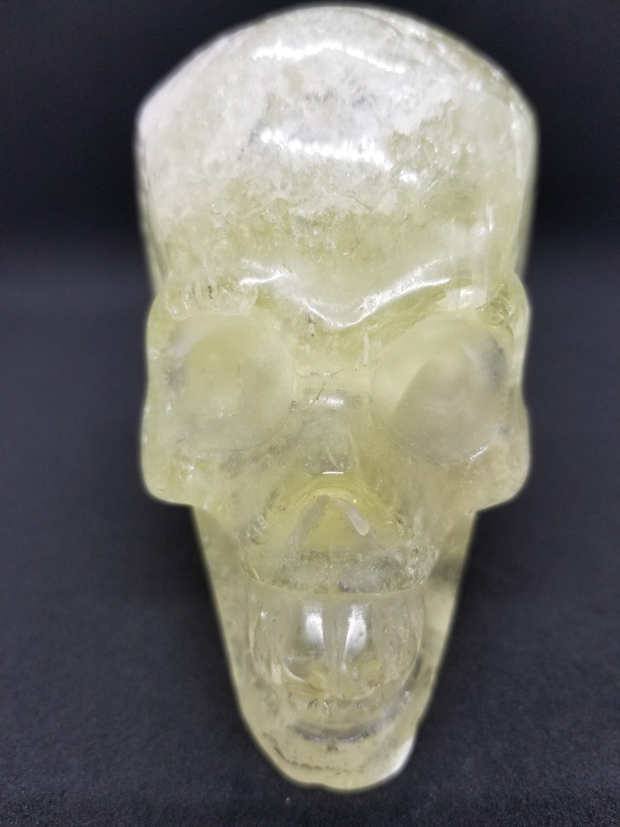 "Natural ""One Only"" Clear Citrine Quartz Crystal Skull"
