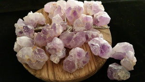 Lot of Natural Rough Uncut Amethyst Quartz Cluster Crystals - 171.4 Grams
