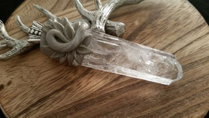 Beautiful Silver Water Clear Natural Diamantina Crystal Point Pendant