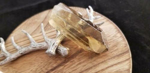 A+ Natural Clear Twin Lemurian Citrine Quartz Crystal Point - 26.6 Grams