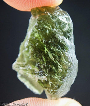 Certified! Rare A+ Nymph Carved Natural Moldavite Gem