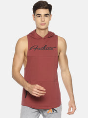 VENGEANCE - SLEEVELESS HOODIE ROSE Men's - AestheticNation