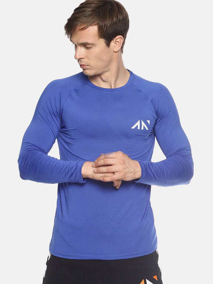 MOVEMENT QUICK DRY BLUE TSHIRT - AestheticNation