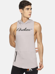 VENGEANCE - SLEEVELESS HOODIE GREY Men's - AestheticNation