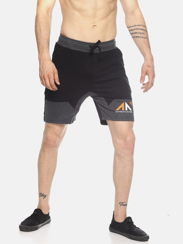 ACTIVE PANEL SHORTS BLACK CHARCOAL