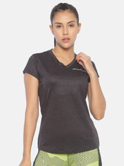 ESSENTIAL VNECK TOP - BLACK Women's - AestheticNation