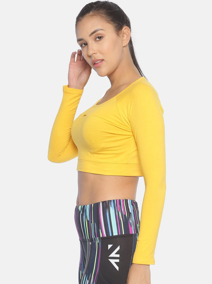 AESTHETIC CUT CROP YELLOW Women's - AestheticNation