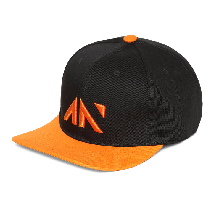 SNAPBACK CAP - BLACK ORANGE Cap - AestheticNation