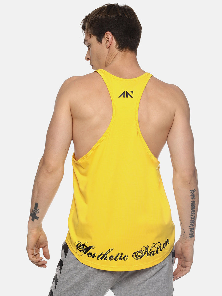 LET THE GAIN BEGINS- YELLOW STRINGER