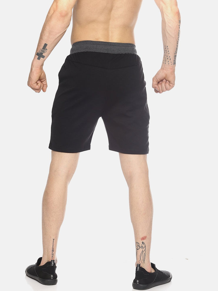 ACTIVE PANEL SHORTS BLACK CHARCOAL Shorts - AestheticNation