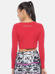AESTHETIC CUT CROP RED Women's - AestheticNation