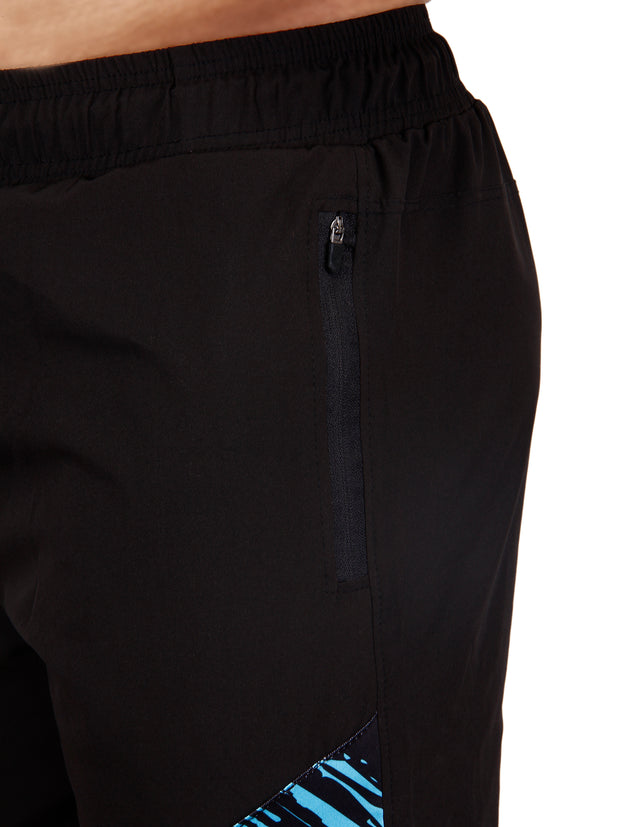 PERFORMANCE SHORTS BLACK BLUE Men's - AestheticNation