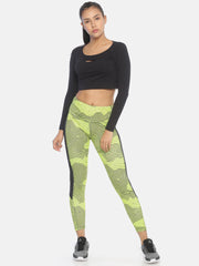 PERFORMANCE LEGGINGS GREEN Women's - AestheticNation